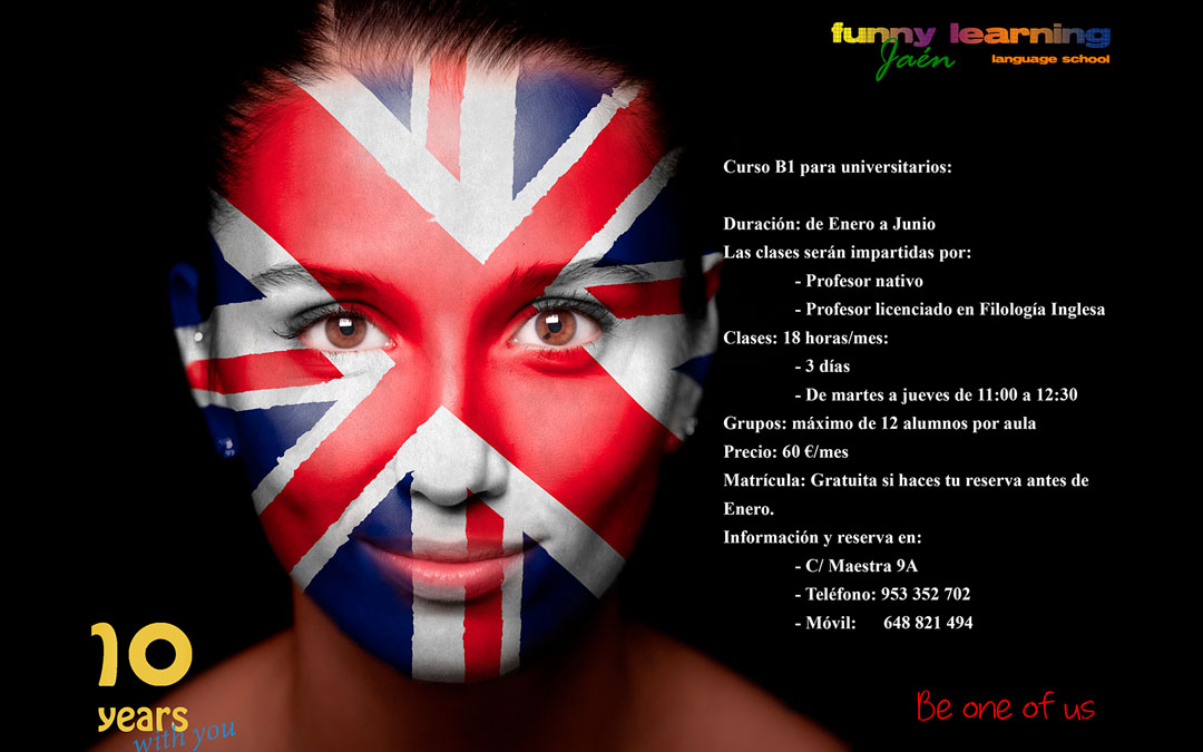 Funny Learning (Jaén) – Curso B1 para universitarios